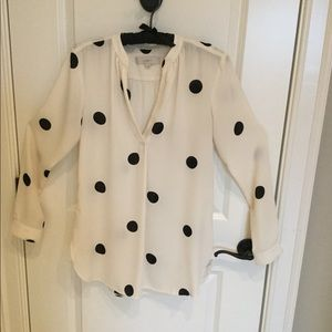 Loft polka-dot long top